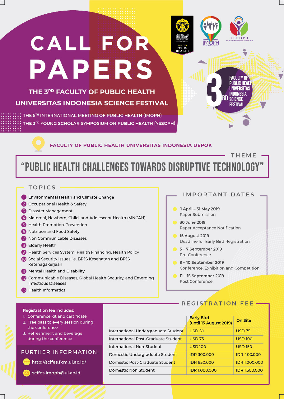 Call For Papers The 3rd FPH UI Science Festival 2019 | UIupdate
