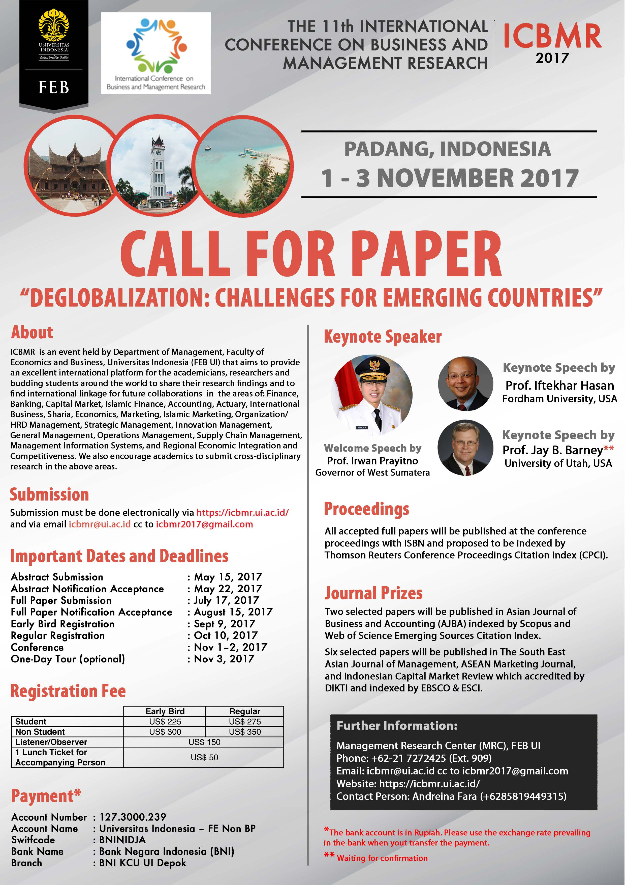 call for paper the th international conference on business and call for paper the 11th international conference on business and management research icbmr 1 3 2017